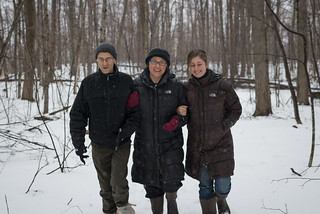 Mark, Lisa, and Tara Walking Through our Woods | by goingslowly