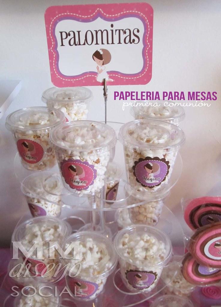 Papeler a para mesa de postres y botanas mm detalles for Como decorar mesa de postres para baby shower