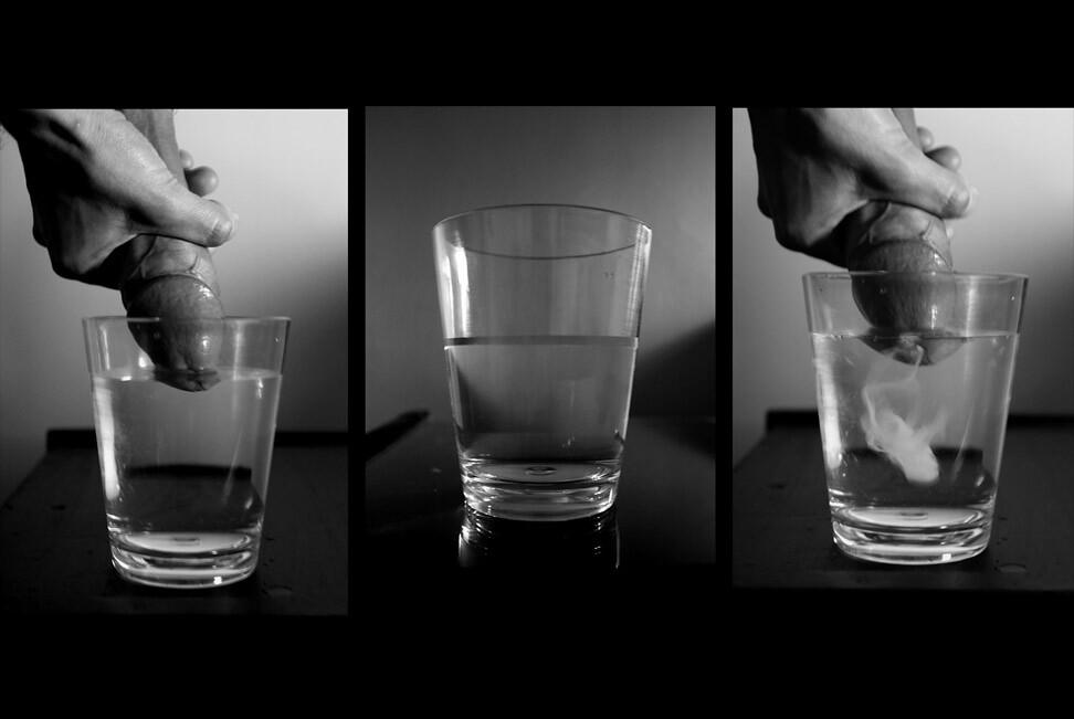 + glass drink sperm +