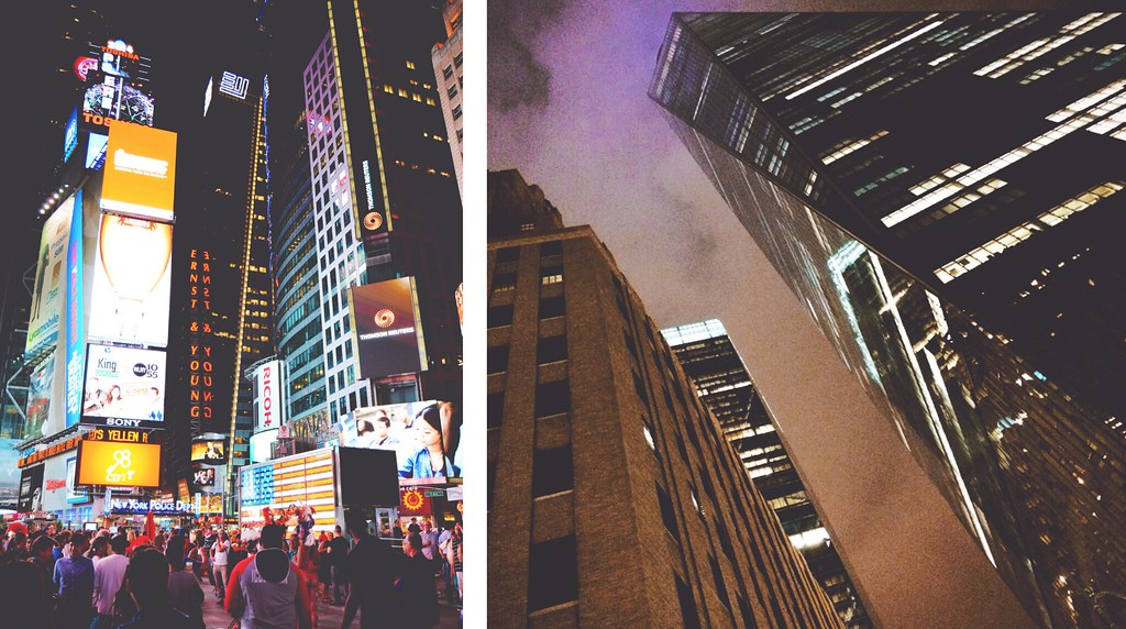 The buzz and fuss of New York City at nighttime | via It's Travel O'Clock