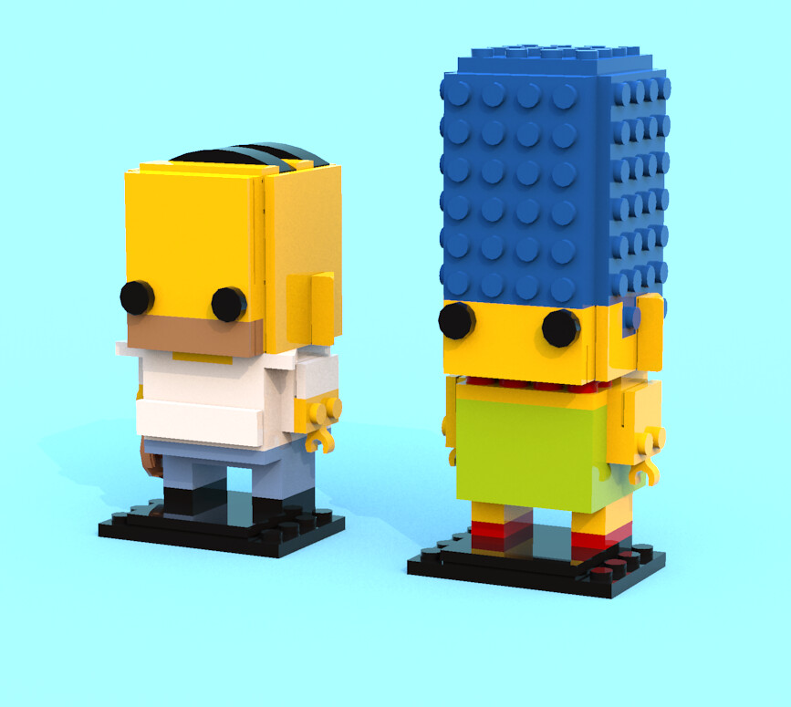 The anatomy of a BrickHeadz | Brickset: LEGO set guide and database