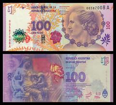 (ARS7a) 2012 Argentina: Banco Central de la República Argentina, Cien Pesos (A/R)...
