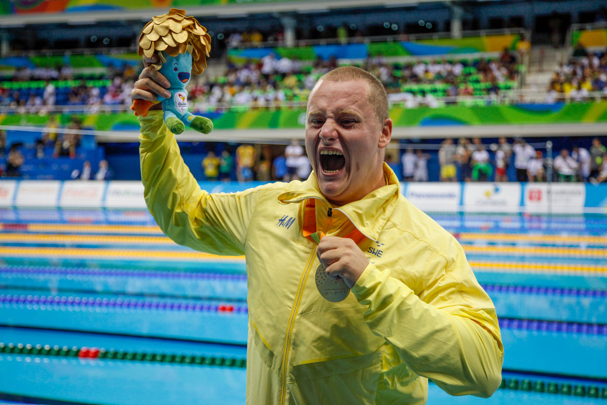 Karl Forsman Swimming 100 m breaststroke SB5 Gold medal - Paralympics Rio 2016