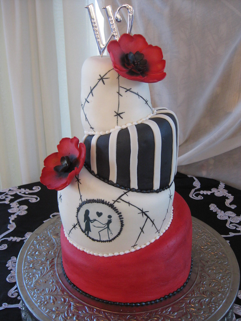 nightmare before christmas wedding cake by nscctx