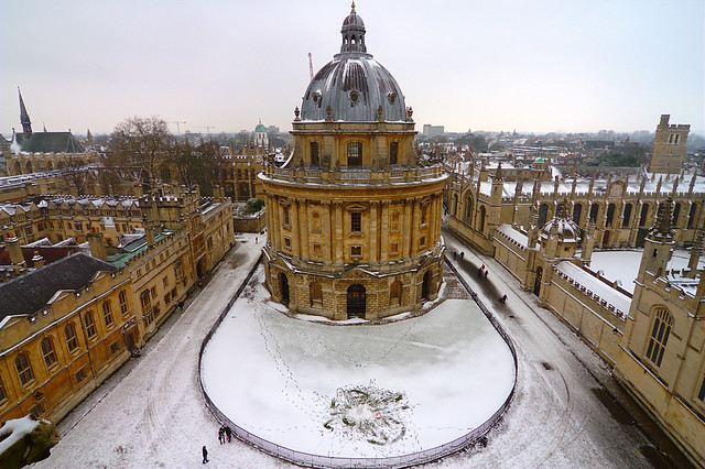 Oxford Snow Scene Flickr Photo Sharing