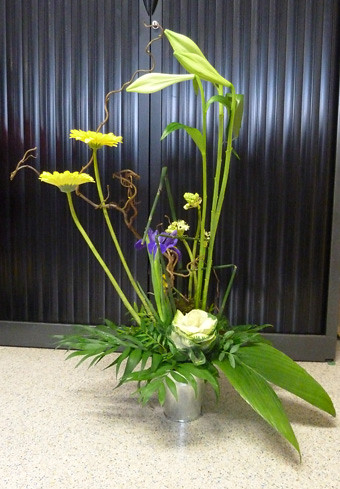 composition florale lin aire on recommence encore mais. Black Bedroom Furniture Sets. Home Design Ideas