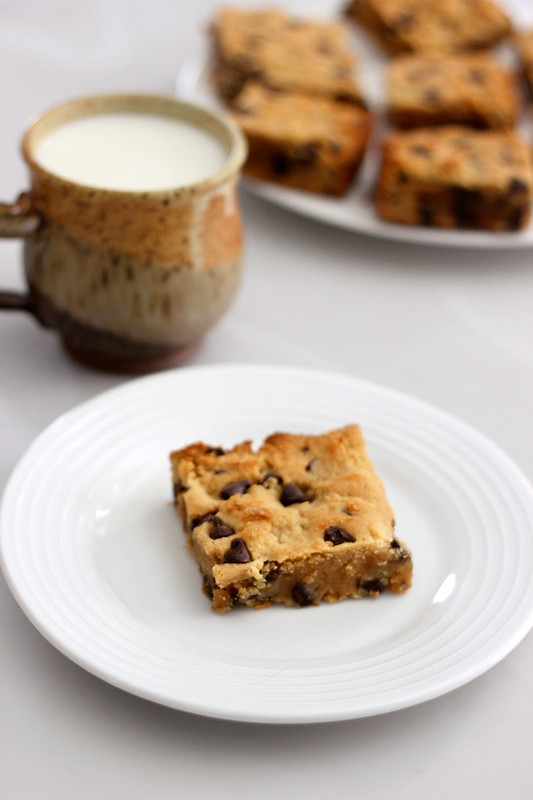 Grain-Free Chocolate Chip Cookie Bars - Gluten-Free + Dairy-Free
