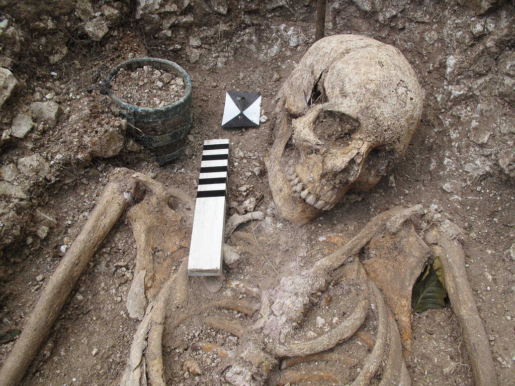 Saxon warrior burial | This is a grave of a Saxon warrior ...