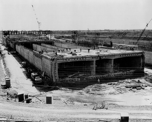 Construction du pont tunnel louis hippolyte la fontaine for Construction de tunnel