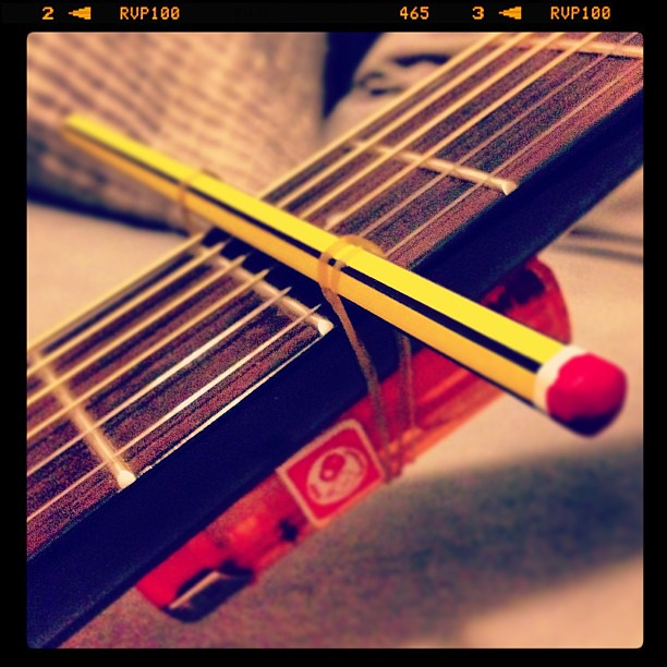 My Attempt Of A Homemade Capo Guitar Capo Homemade Flickr