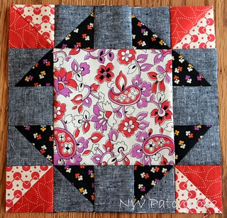 January Block-Grandmother's Frame | by nwpatchwork