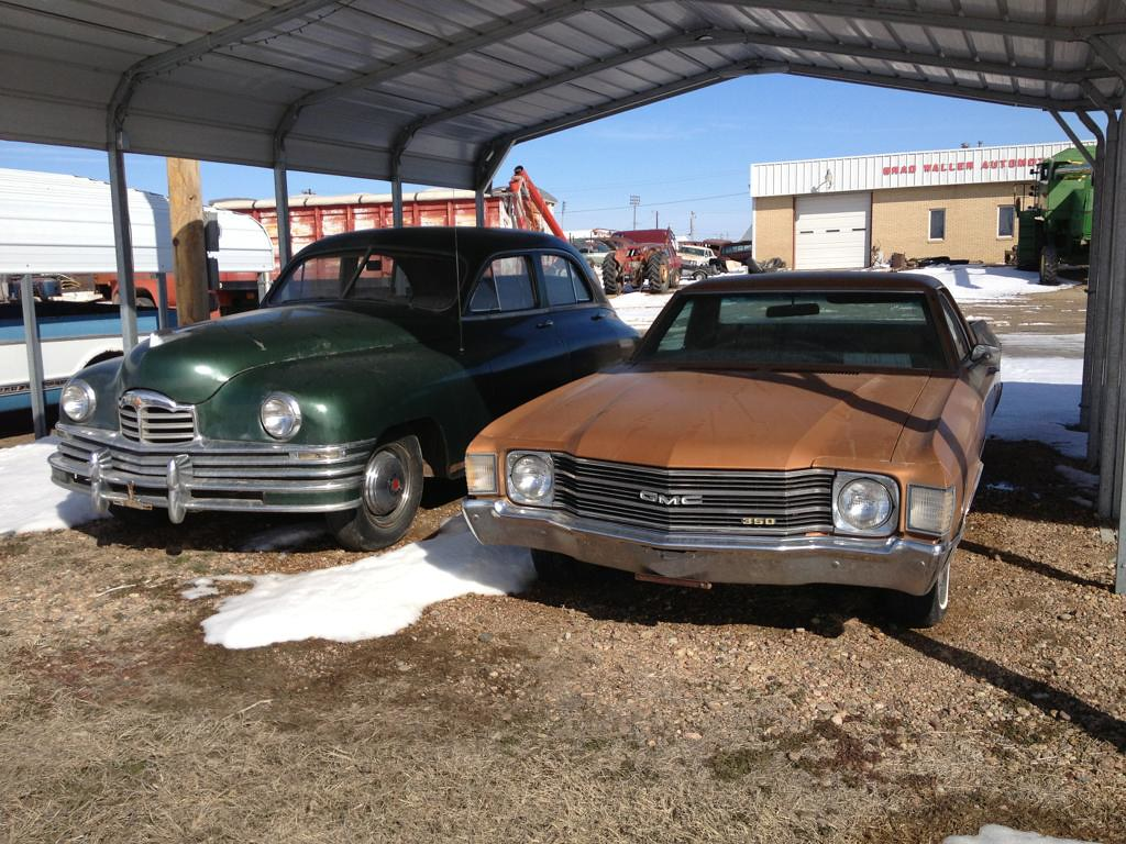 1948 Packard 4 Door Sedan And 1972 Gmc Sprint A Couple