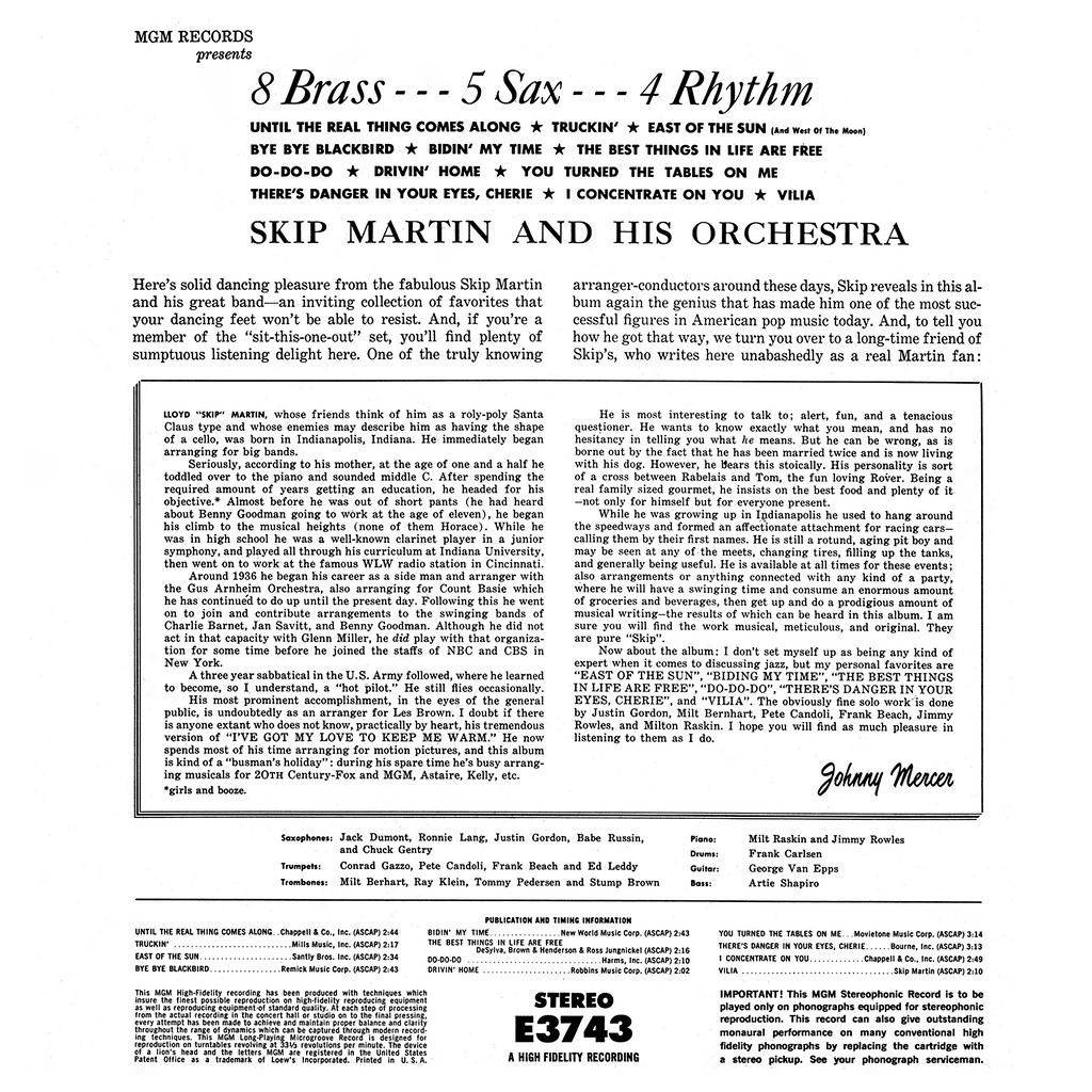 Skip Martin – 8 Brass 5 Sax 4 Rhythm