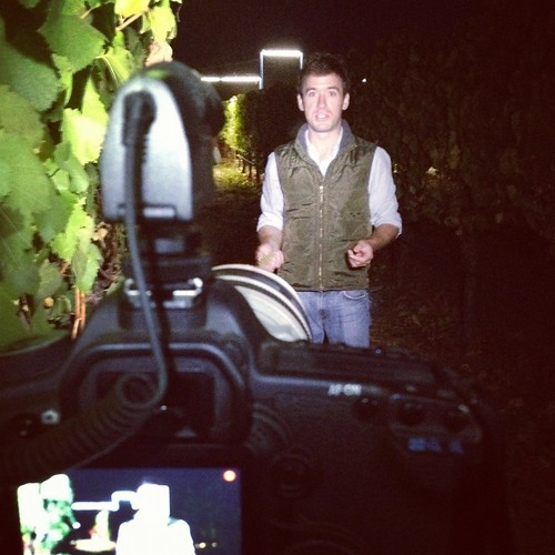 Chardonnay night harvest video shoot - behind the scenes | by jordanwinery.com