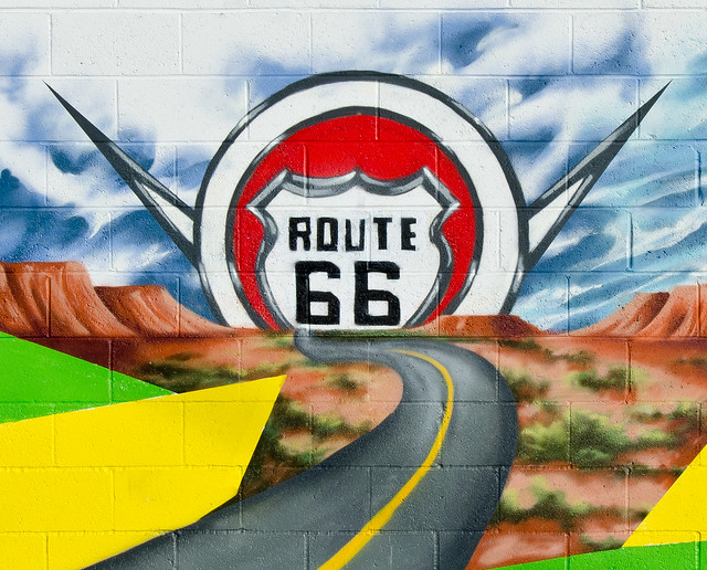 Route 66 wall mural flickr photo sharing for Route 66 mural