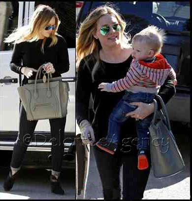 Hilary Duff toting Dune Celine Mini Luggage tote | Flickr - Photo ...