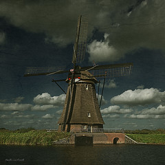 Free day in Holland,Kinderdijk.