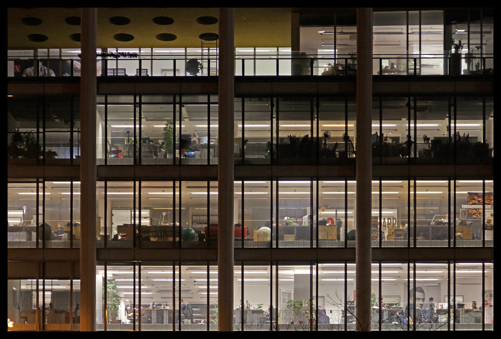 All sizes | Budapest - office windows at night | Flickr - Photo ...