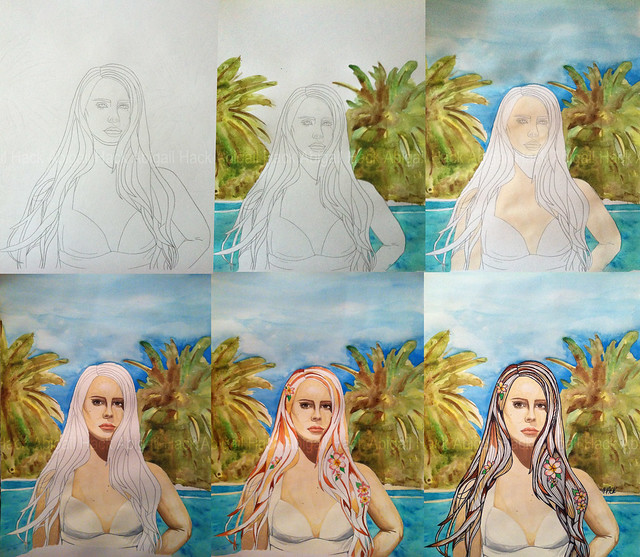 Lana Del Rey Painting Stages | Flickr - Photo Sharing!