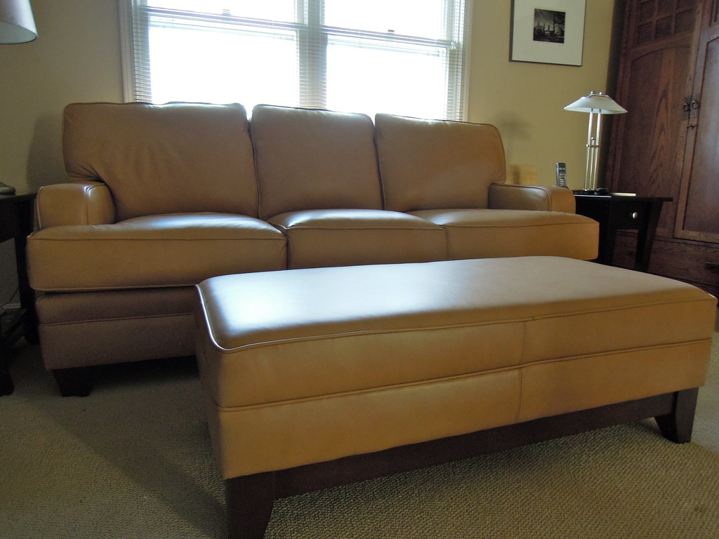 Leather Sofa & Ottoman | By Brian's Furniture