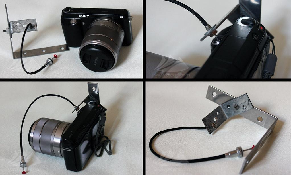 Diy Homemade Mechanical Shutter Cable Release Bracket For