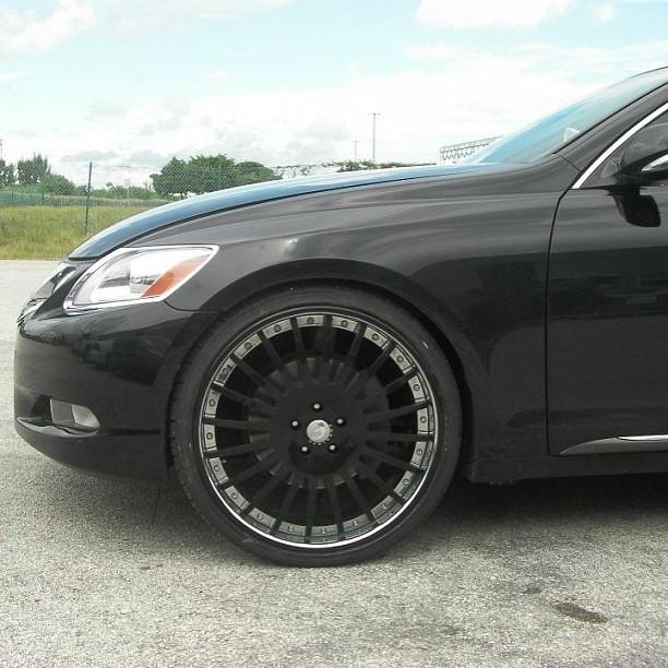Lexus Es 350 Tires: 22 Inch Forgiato Andata Black Chrome Windows Wheels Lexus