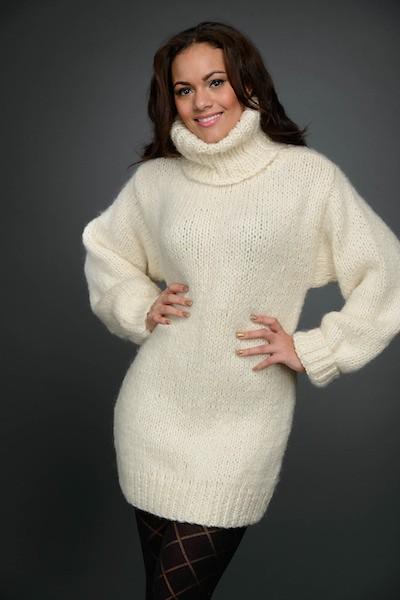 Hand Knitted Cream Mohair Angora Turtleneck Sweater Flickr