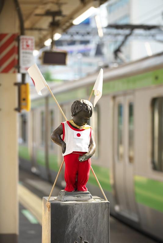 Tokyo Train Story 浜松町駅の小便小僧 2016年8月9日