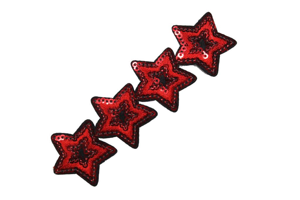 Paillettensterne-Starletts, rot