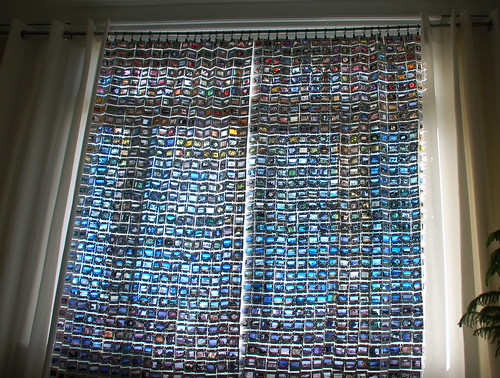 Upcycled 35mm film slide curtains | by sherwoodscot