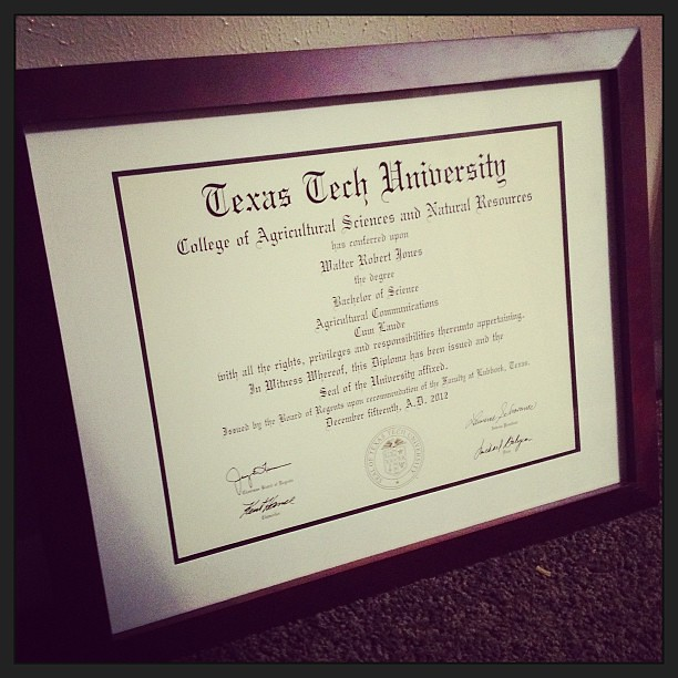 Take THAT Texas Tech and your $80 diploma frames! Walmart … | Flickr
