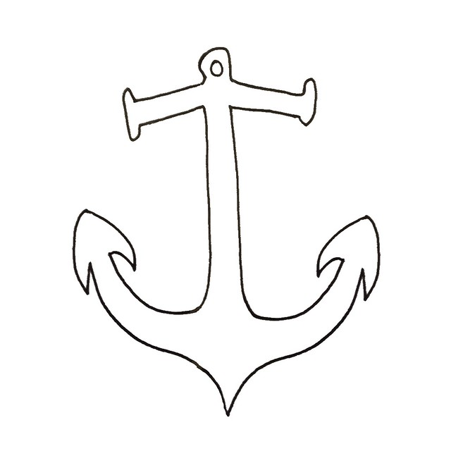Line Drawing Anchor : Anchor line drawing for brit bee flickr photo sharing