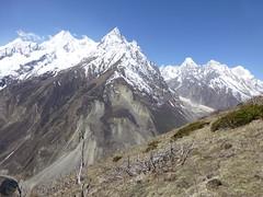 Bergpanorama beim Aufstieg auf den Samdo Peak