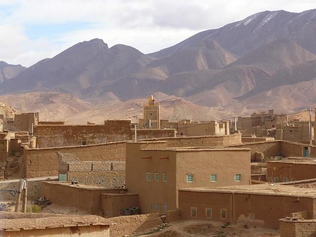 Pueblo del Atlas de Marruecos