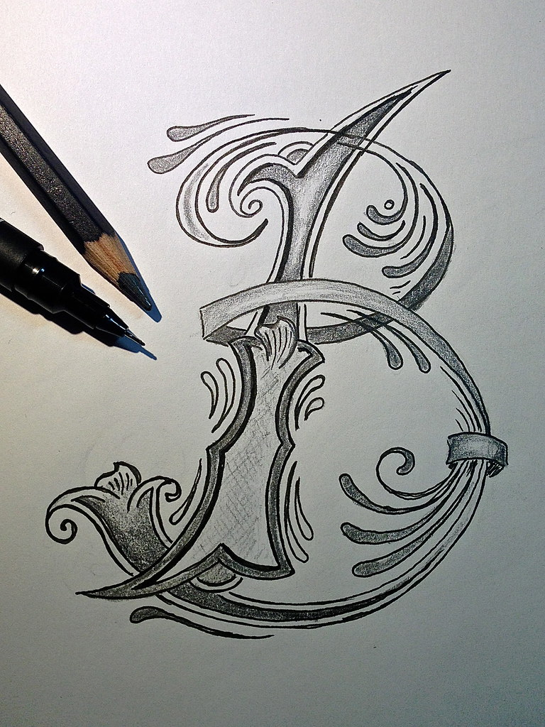 letter tattoo designs sketch letter b for better trying to do the next 23170 | 8401234953 26814330ce b