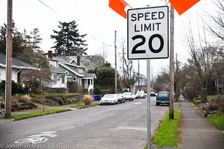 New 20 MPH Sign