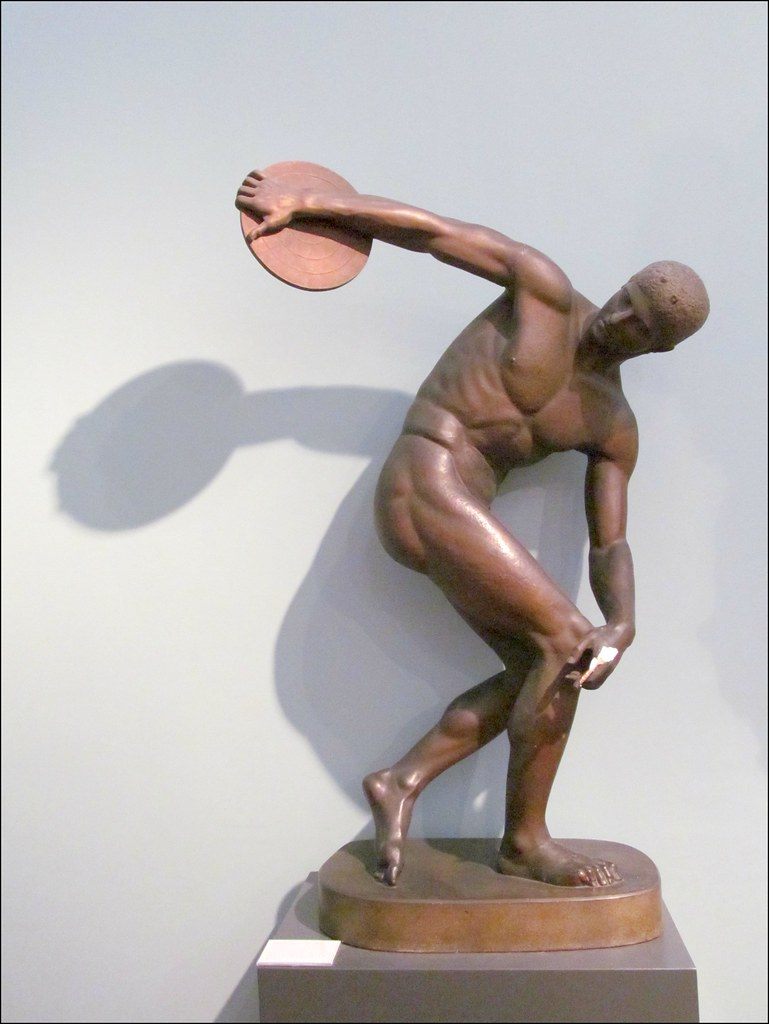Diskobolos (disc-thrower) of Myron | An athlete is coiled ...