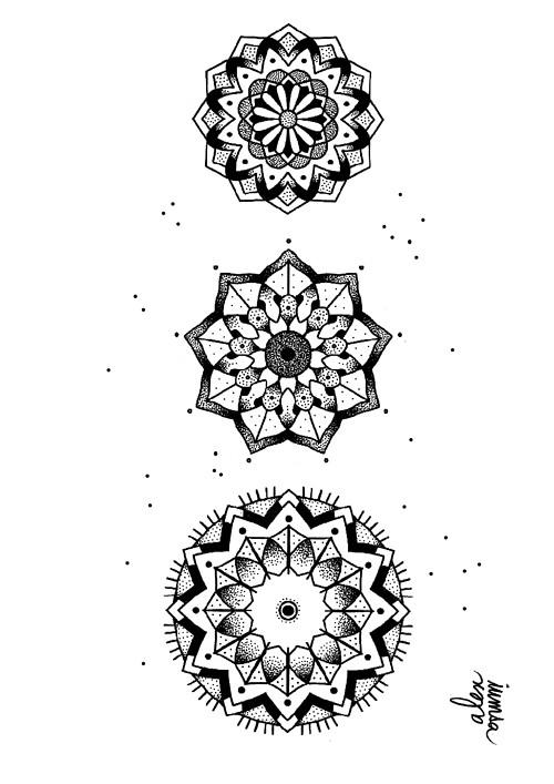 Encremecanique Alex Iumsa Mandala Tattoo Flash Flower Geom