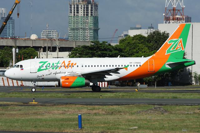 RP-C8990 Zest Air A319-132 Manila 19/11/2012