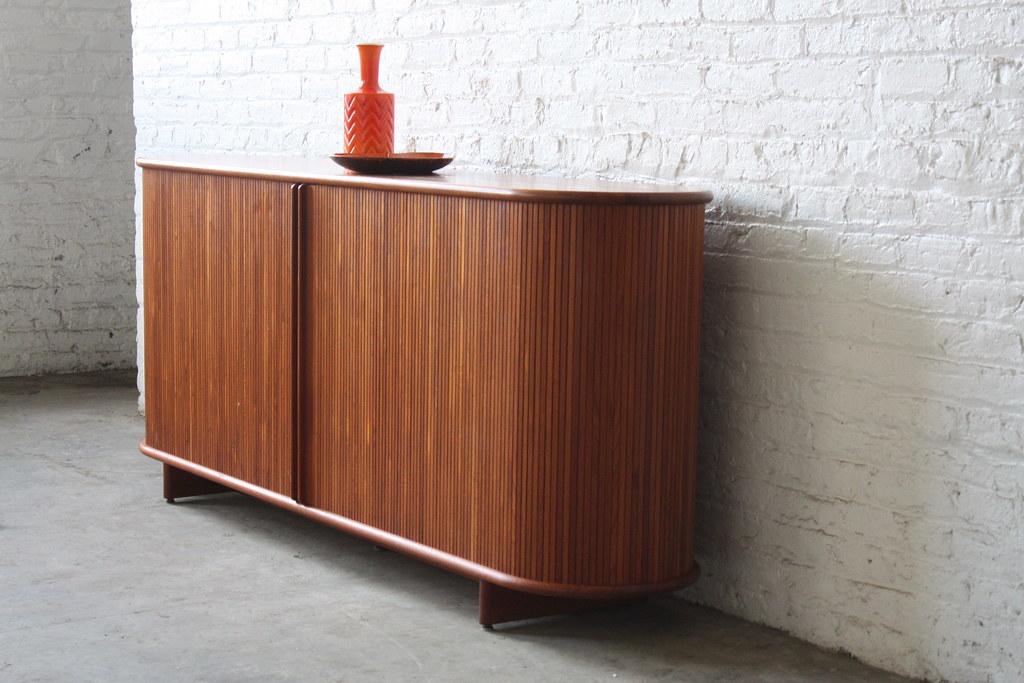 Danish Office Credenza : On deck*** rare vintage danish modern teak tambour dooru2026 flickr