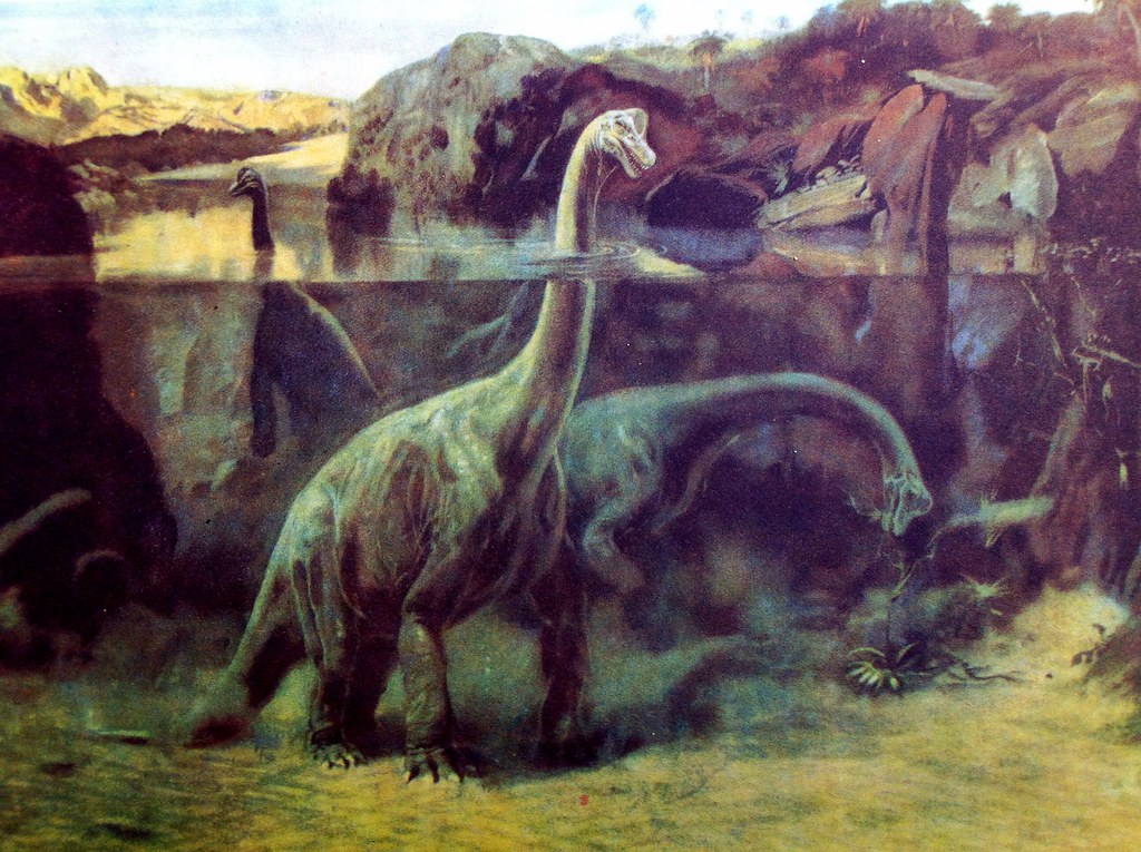 Brachiosaurus in a swamp! Just bought this classic 1960s C ...