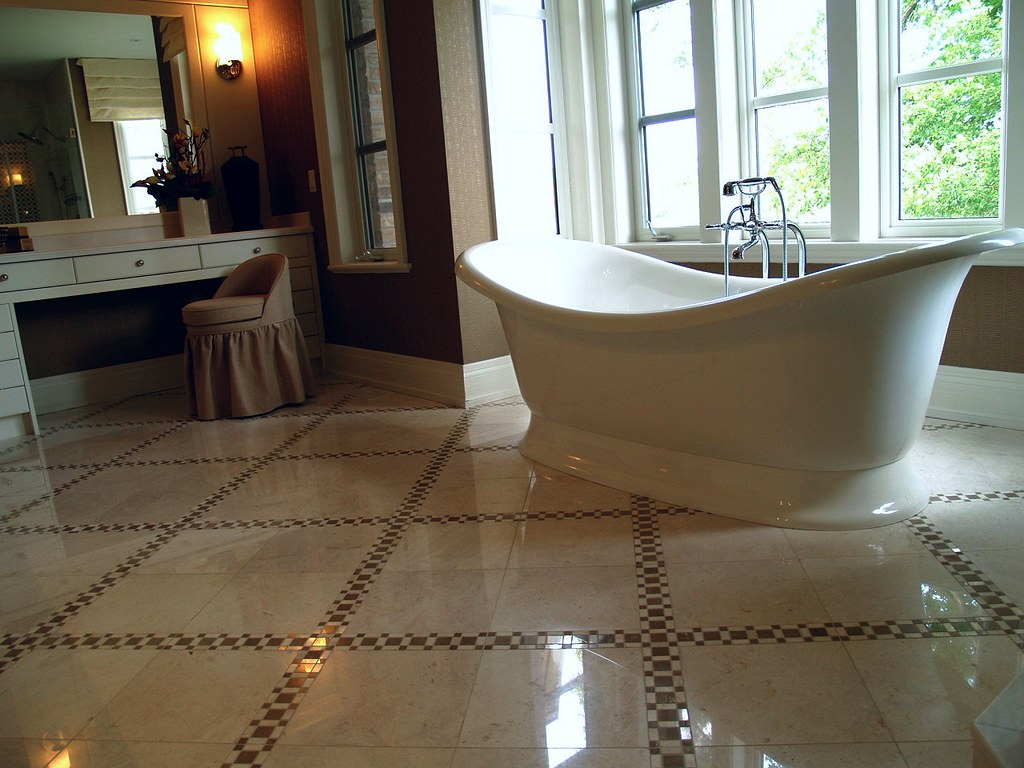 Marble floor tiles bathroom