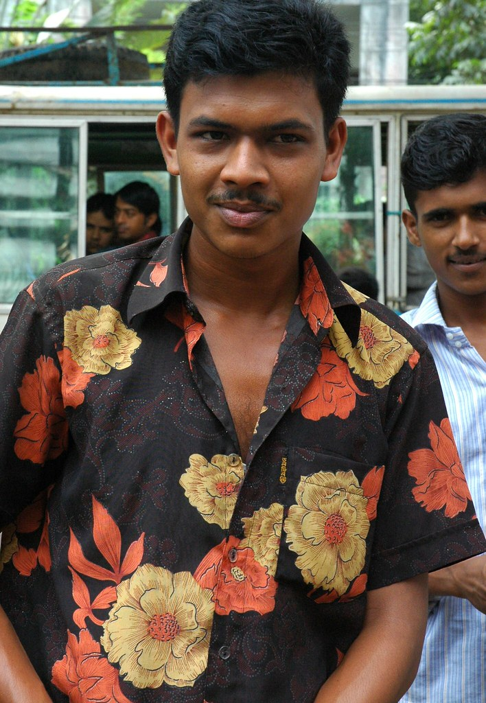 dashing young man in a floral shirt  near dhaka  banglades u2026