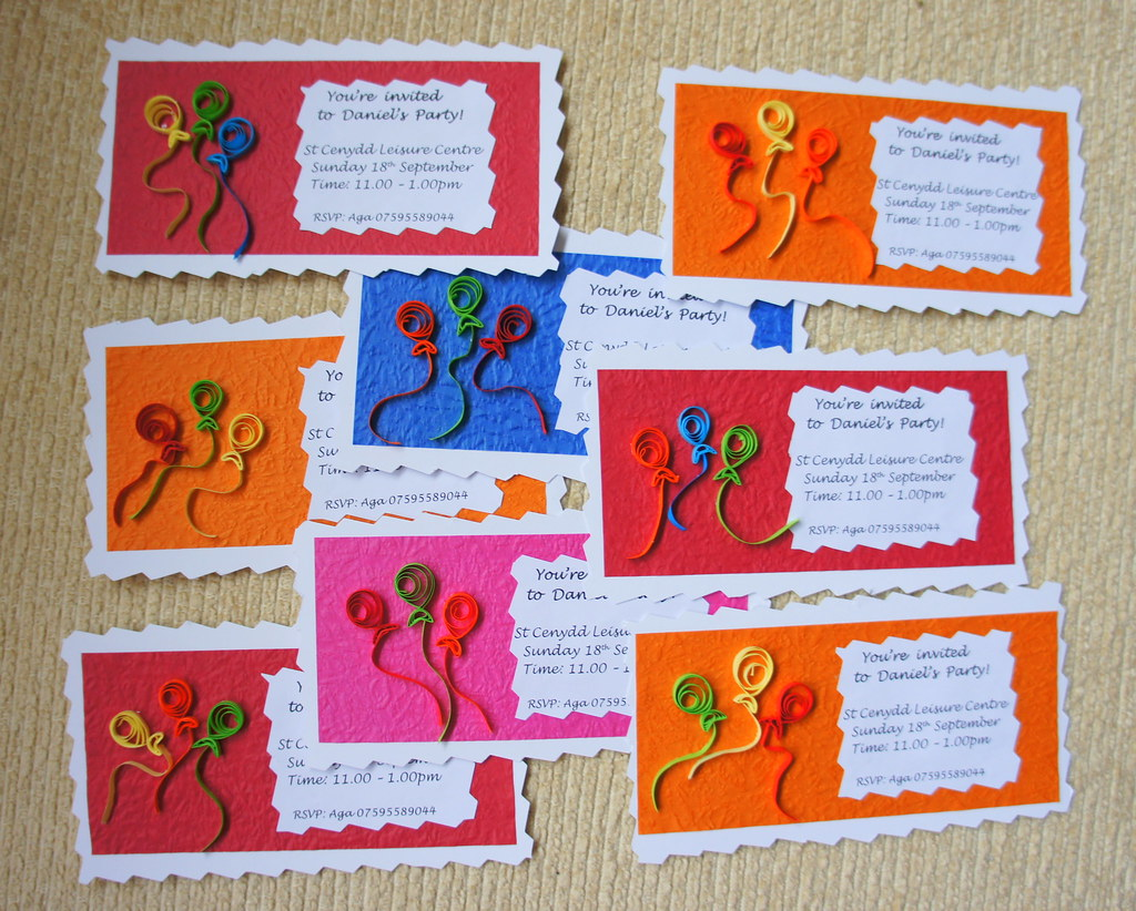 Quilled birthday invitations handcraftforyou agagata flickr quilled birthday invitations by agagata quilled birthday invitations by agagata stopboris Choice Image