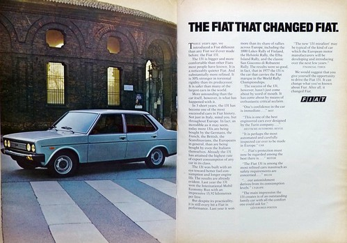 Fiat 131 ad, Scientific American 1977