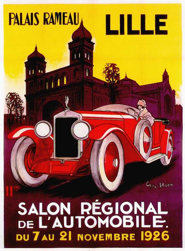 The 1920s 1926 car salon poster mo flickr for The car salon