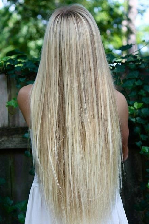 long silky straight blonde hair charming long blonde