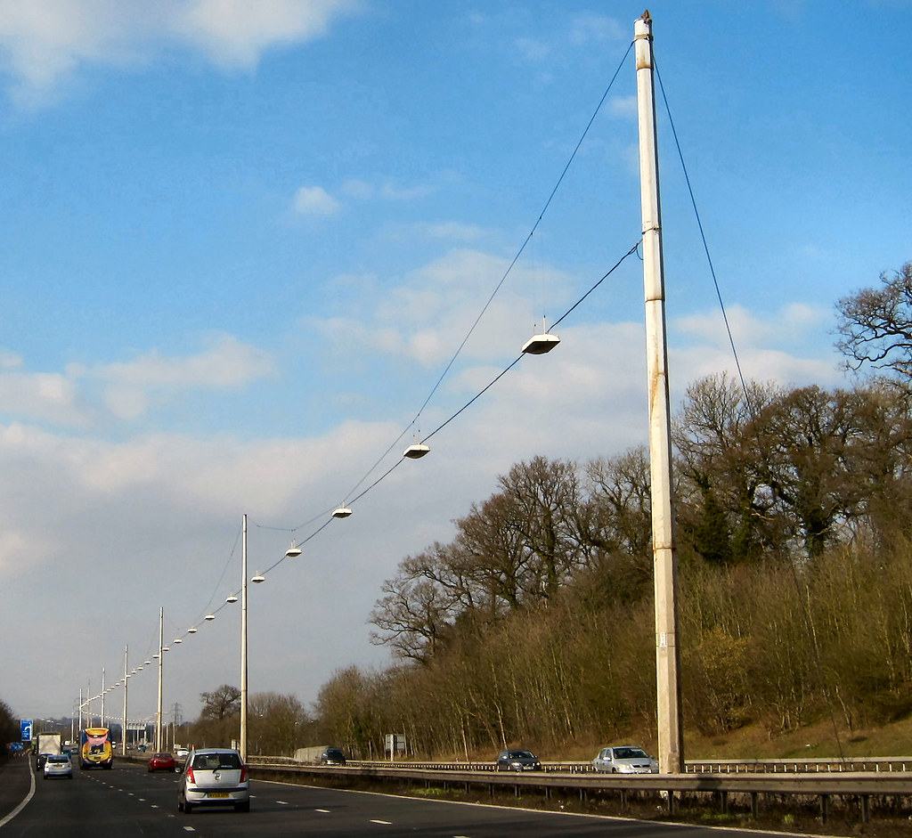 ... M1 Catenary Lighting   by Lady Wulfrun & M1 Catenary Lighting   Just south of Junction 6A on the M1 Mu2026   Flickr azcodes.com