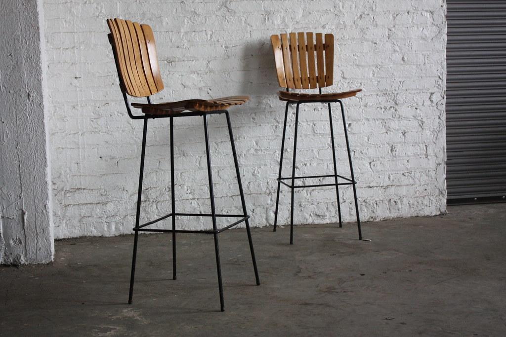 Appealing Arthur Umanoff Mid Century Modern Slat Wood Amp Wr