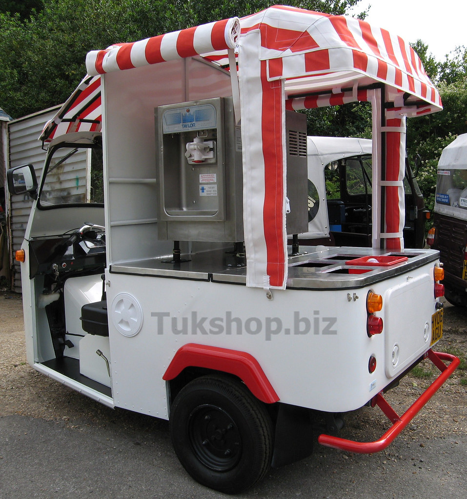Tuk Tuk Ice Cream Van Mr Whippy Style Ice Cream